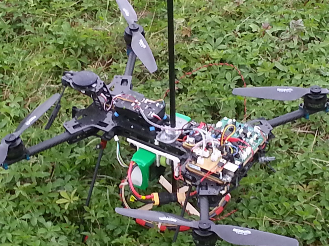 Drone Based Metal Detector Proof Of Concept Machine Doing